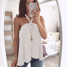 ZOGAA top women 2019 New summer sleeveless Sling Straight shoulder sexy tops Fashion streetwear black vest size S-XL