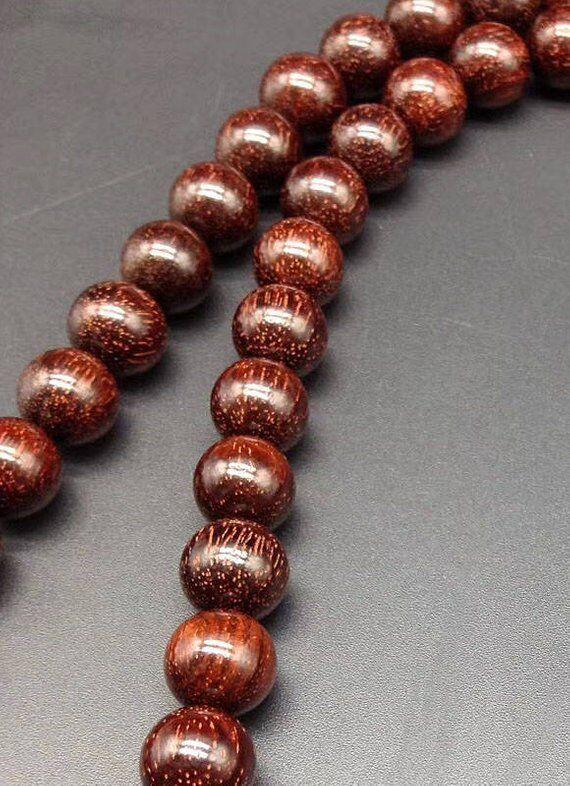 8 мм/10 мм натуральный индийский красный бисер из сандалового дерева класс AAA высокой плотности 108 Mala бусы молитвенный браслет или ожерелье DIY ... - 3