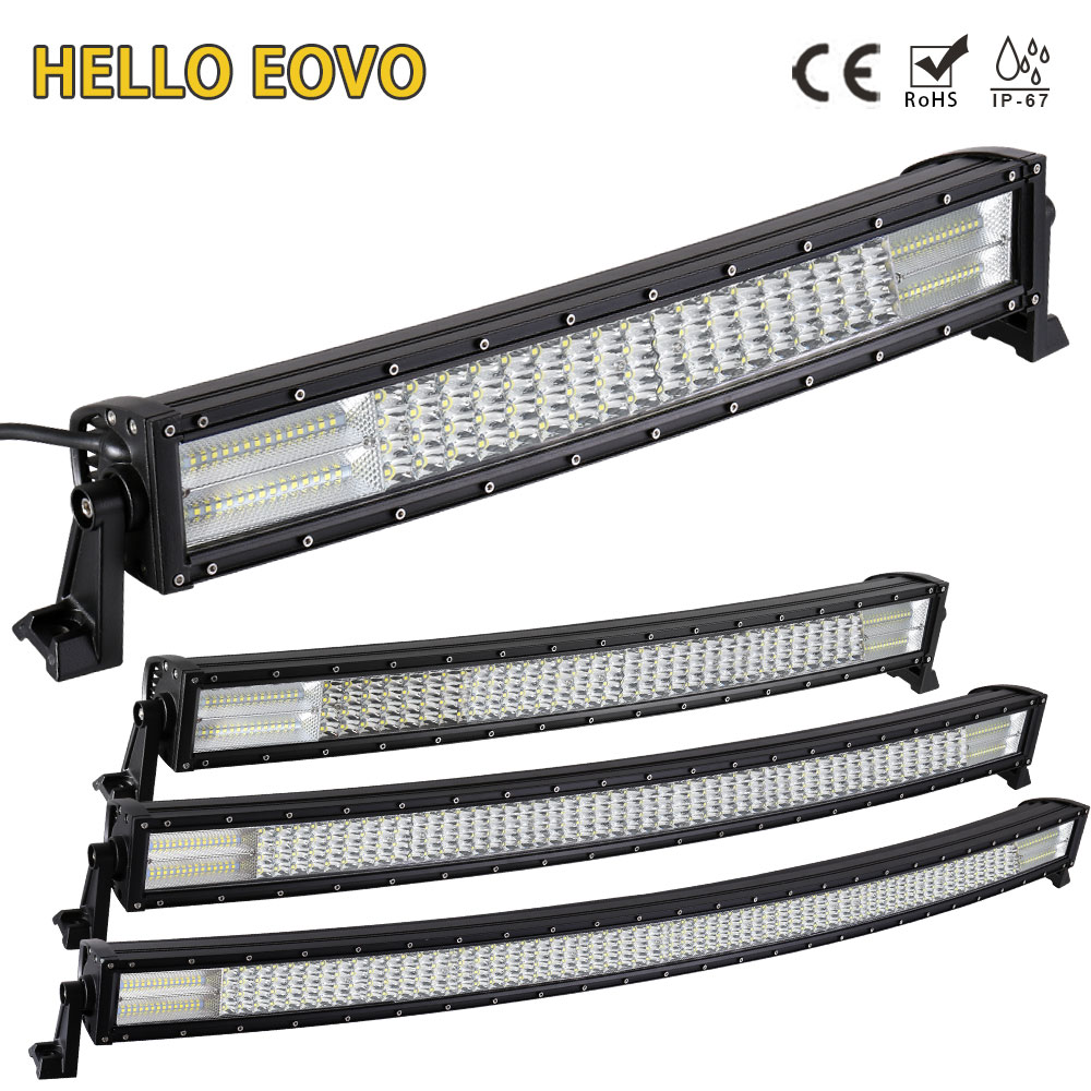 HELLO EOVO 22 32 42 52 inch Curved LED Light Bar for Work Indicators Driving Offroad Boat Car Tractor Truck 4x4 SUV ATV 12V 24V