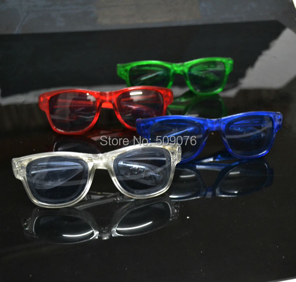 Free shipping 24pcs lot light up led flashing glasses led eyeglasses EDM EDC Rave Party Bar