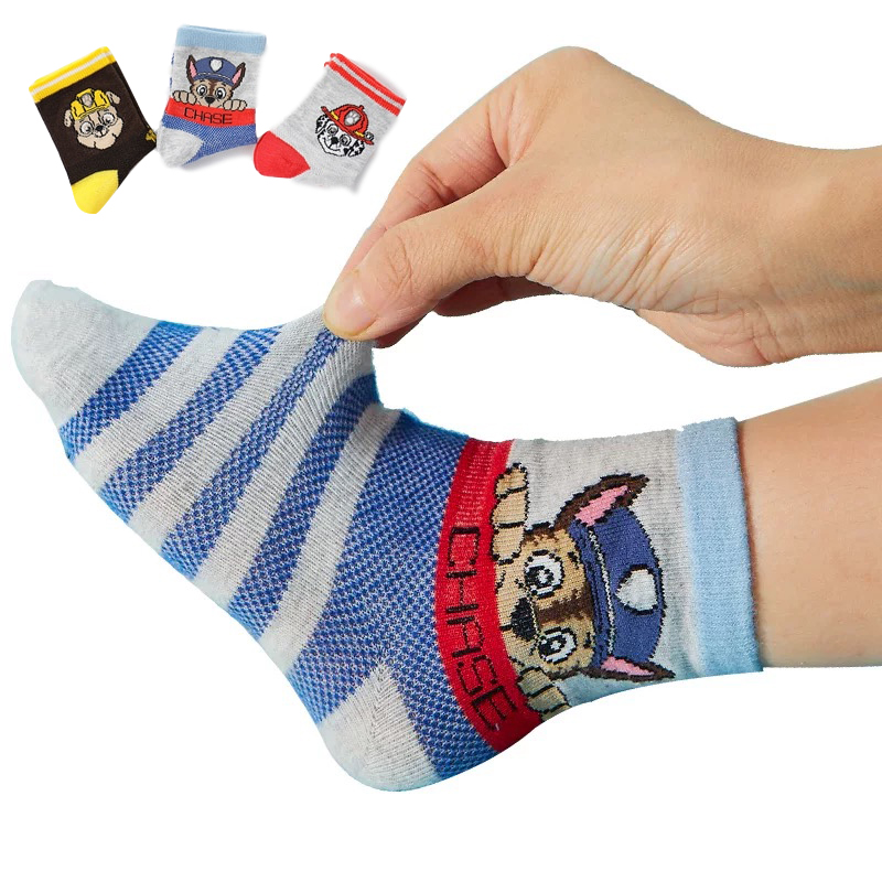 1 Pair Genuine Paw Patrol Socks For Girls Cotton Kids Socks Boys Toddlers Socks Skye Chase Marshall Rubble Non Slip Socks Kids