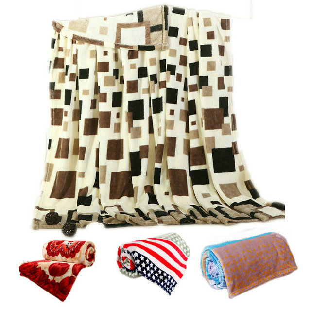 Super Soft And Warm Coral Fleece Velvet Blanket Bed Sheet Plaid Blanket Throw Bedding Blanket (1.5,1.8,2.3)*2m