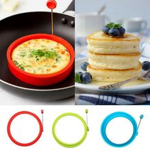 New Silicone Fried Egg Pancake Ring Omelette Fried Egg Round Shaper Eggs Mould for Cooking Breakfast Frying Pan Oven Kitchen(China)