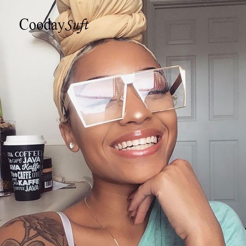 2017 Brand Designer Sunglasses Women Men UV400 Hip Hop Sun Glasses Frame Big Size Oversized Lady