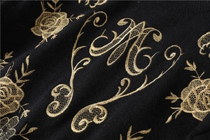 Image 4 - 2020 inverno runway designer preto camisola pullovers feminino luxo floral impressão feminino natal malha camisola jumper roupas