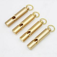 1 Pc Copper Alloy Emergency Whistle With Key Ring Loud Sound Portable Outdoor Adventure Survival Tool Rescue Accessory цена 2017