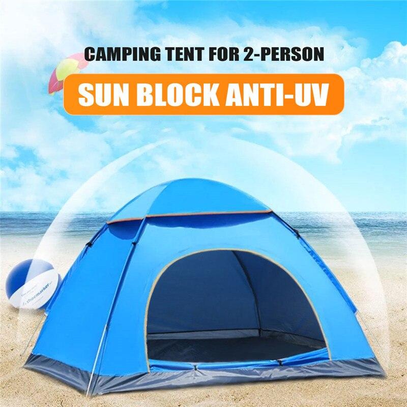 SGODDE Outdoor Tragbare Anti-Uv 2 Person Ultraleicht Klapp Zelt Wasserdicht Wandern Camping Zelt Pop Up Automatische Öffnen Sonne Schatten