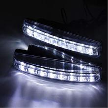 цена на 1pc Car Light 8LED DRL Fog Driving Daylight Daytime Running LED White Head Lamp