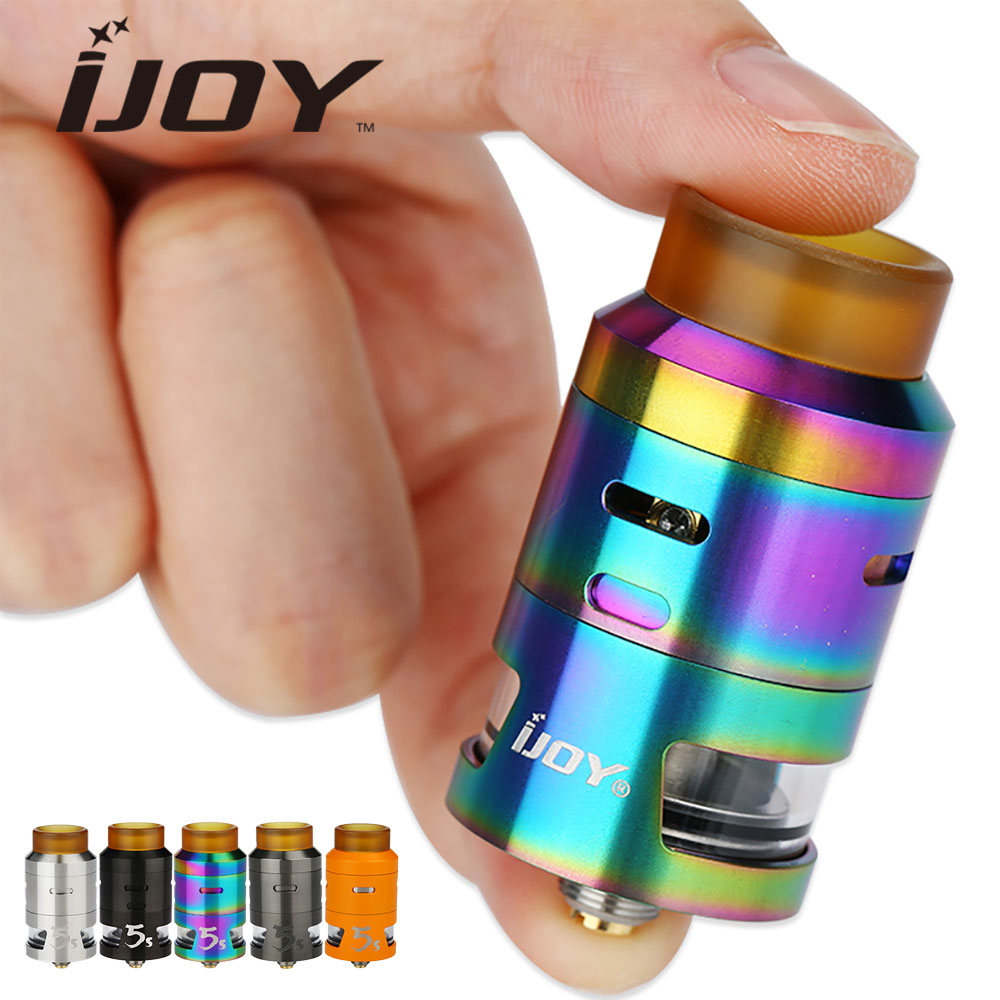 все цены на Original IJOY RDTA 5S Tank 2.6ml Capacity 24mm Top Filling & Airflow Control great flavor RDTA 5 S Atomizer e cigs Vape Tank