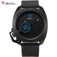 Tawny Shark Luxury Brand Blue Stylish Date Display Male Simple Dial Left Crown Clock Military Watch