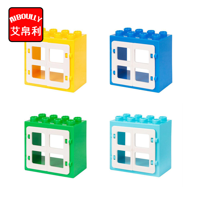 Duploe House Castle Castle Window Toys Blocks Model Building DIY Creative Bricks Toys Educational Gift For Kid diy doll house villa model include dust cover and furniture miniature 3d puzzle wooden dollhouse creative birthday gifts toys