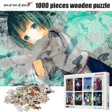 MOMEMO Anime Girl Puzzles for Adults 1000 Pieces Wooden Puzzle Games Toys Jigsaw Children Kid Toy