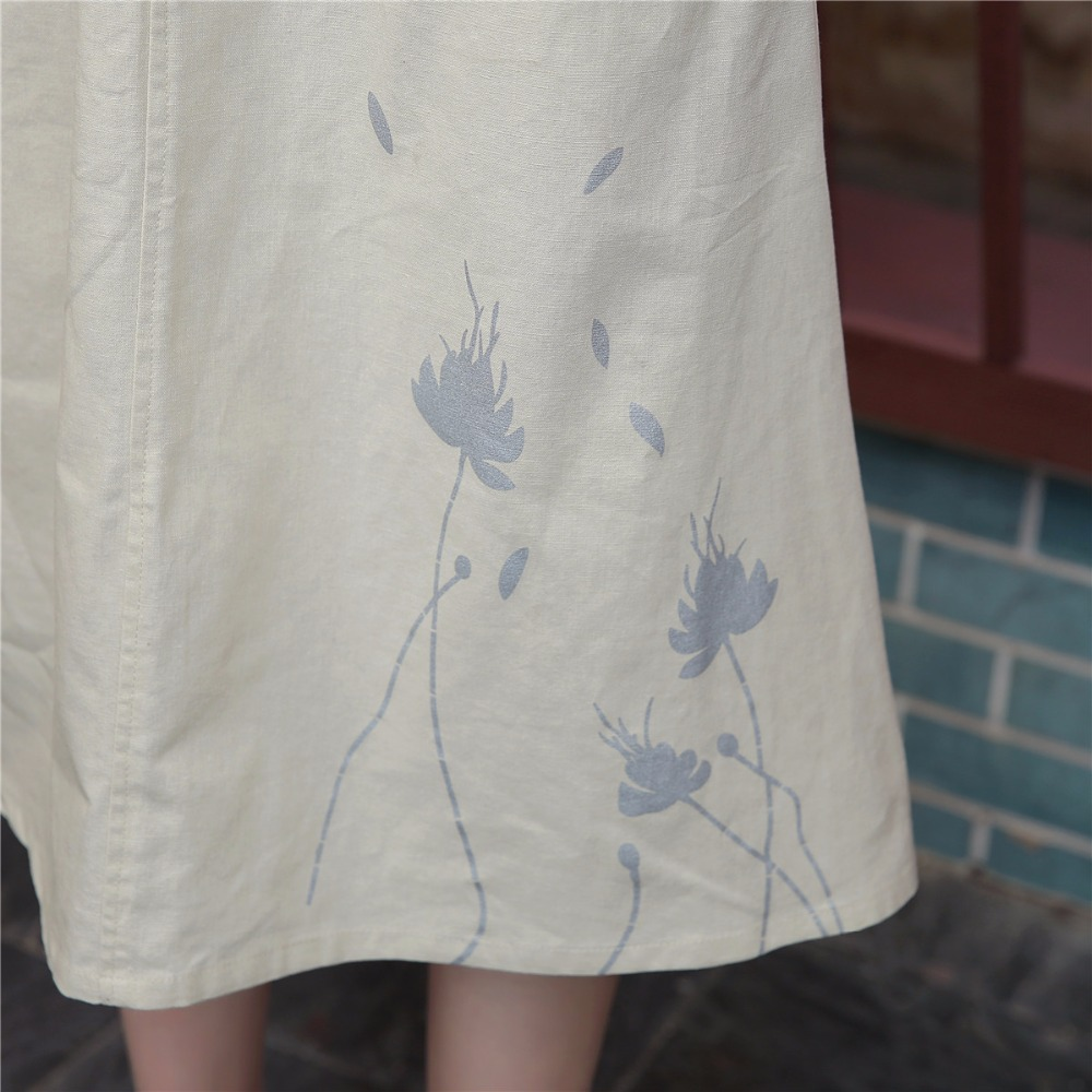 2b9fbd4861 Shanghai Story Linen Skirt Spring Summer Skirts Chinese Style Knee Length  Skirts Casual Skirt-in Skirts from Women's Clothing on Aliexpress.com |  Alibaba ...