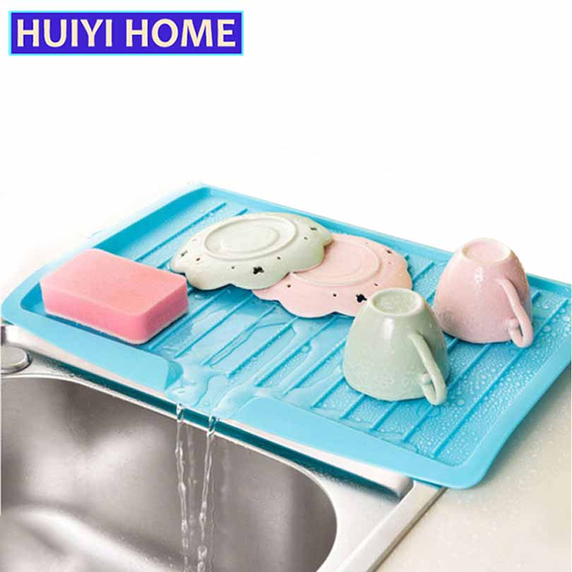 Plastic Large Sink Dish Drainer Vegetable Fruit Drying Rack Washing Holder Organizer Tray For Kitchen Tools EGN001A