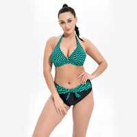Grande taille une pièce Maillot De Bain femmes maillots De Bain rayure Monokini Maillot De Bain Femme body Femme Maillot De Bain noir bleu