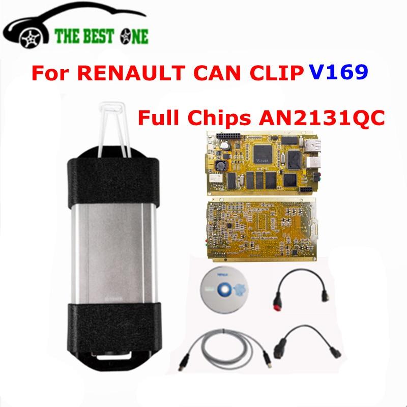Цена за DHL Бесплатная PCB золота Cypress AN2131QC V169 для Renault МОЖЕТ закрепить диагностический Интерфейс полный чип может зажим для автомобиля renault код читателя