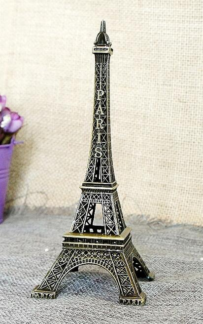 Paris style E Eiffels Tower Metal model creative Paris tower home furnishing ware model alloy large room world famous landmark