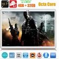 Envío libre 10 pulgadas tablet pc 3G WCDMA octa core GPS Android 5.1 4 GB/32 gb 1280*800 IPS Pantalla de Doble Cámara de 5.0MP MEDIADOS Phablet