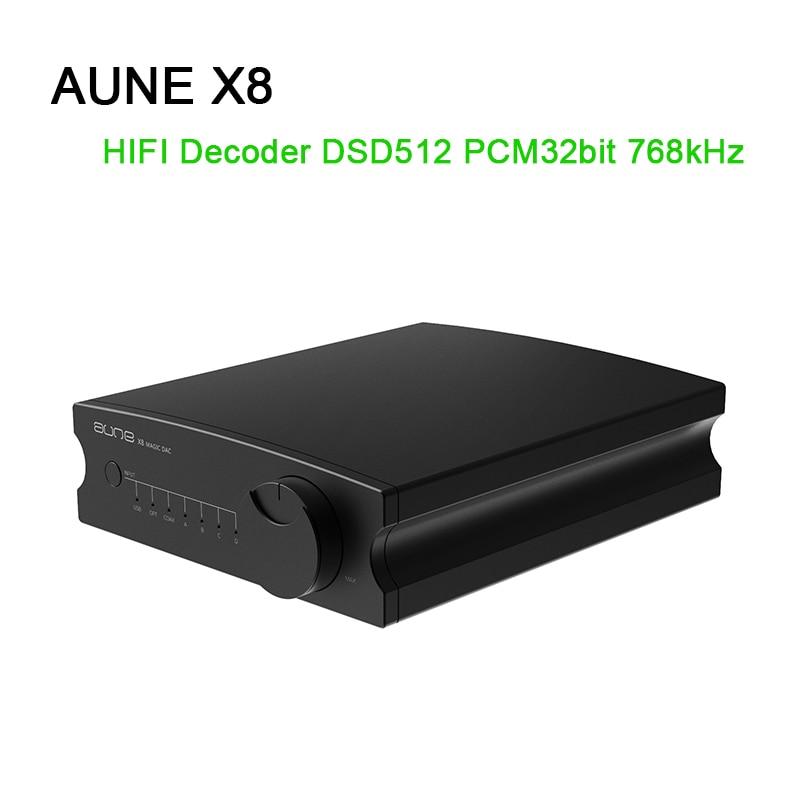 AUNE X8 HIFI DAC Audio Decoder ES9038Q2M USB DAC Amp DSD512 Coaxial Optical PCM32bit 768kHz