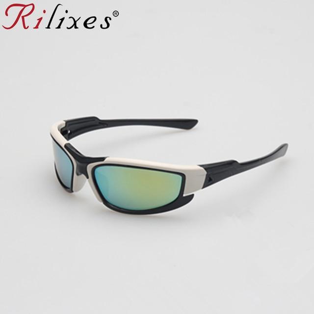 a7bad16077f RILIXES 2018 New Boy Goggles Children Sunglasses Kids Protection Sun  Glasses Girls Cute Cool Glasses