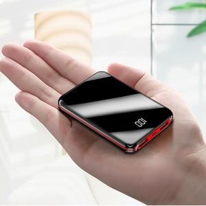 Image 1 - 10000mah mini power bank Tragbare USB Batteria Ladegerät power externe batterie pover bank für iPhone X Samsung xiaomi Huawei