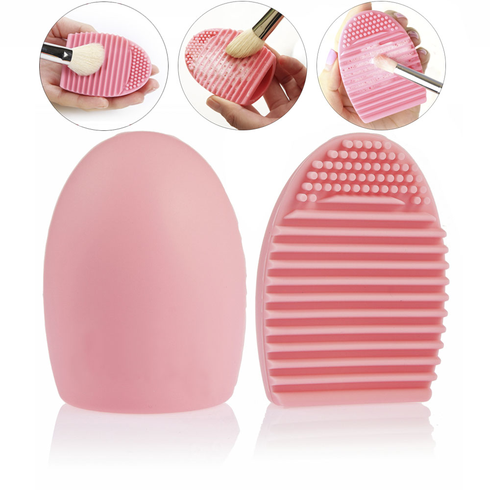 Egg Style Cosmetic Powder Foundation brush Makeup Brush Clean Tool Pink