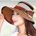 Открытый большой шлем солнца открытые летние женские sunbonnet солнцезащитный крем анти-уф пляж крышка strawhat