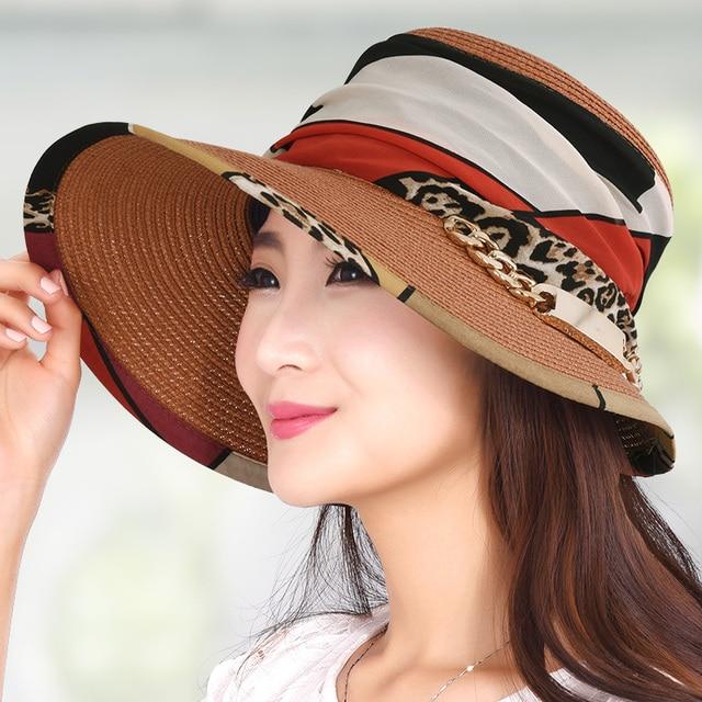 Al aire libre gran sombrero para el sol sombrero de verano al aire libre sunbonnet protector solar de las mujeres anti-ultravioleta casquillo de la playa del strawhat