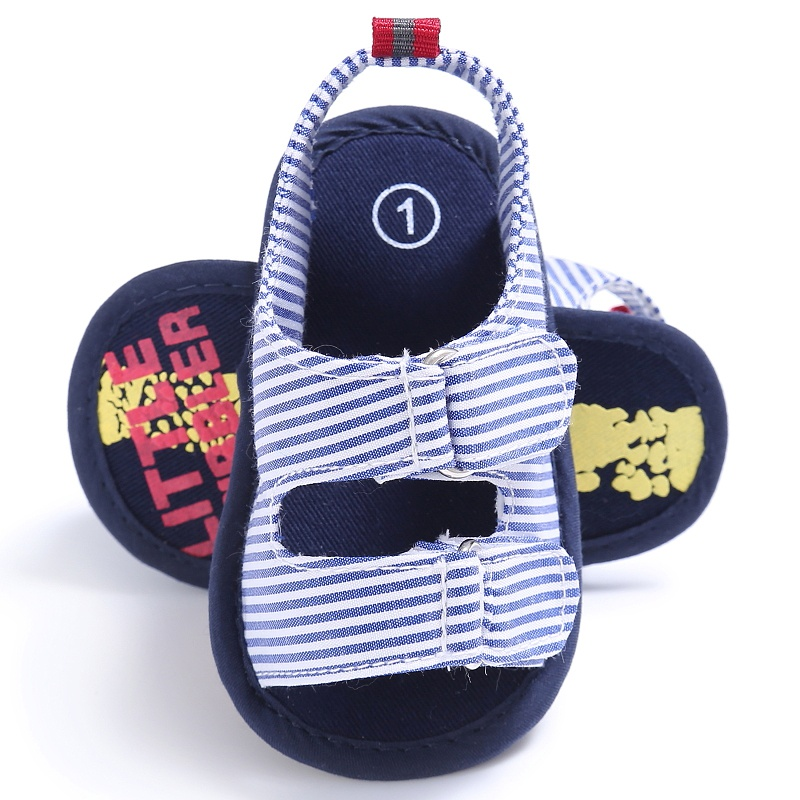Newest Summer Toddler Baby Boys Sandals Fashion Breathable Anti Slip Crib Stripe Shoes
