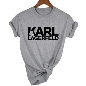 Karl Lagerfeld T shirt women Unisex summer 2019 Vogue Short