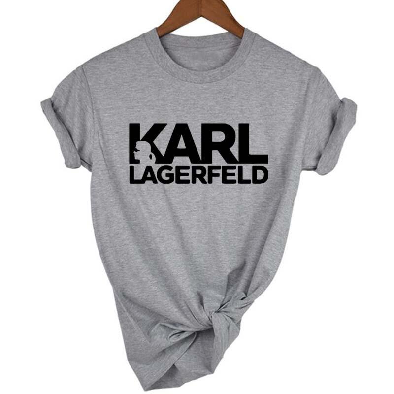 af0db3a5ea10a Karl Lagerfeld T Shirt Women Unisex Summer 2019 Vogue Short Sleeve Funny T  Shirts Harajuku Tumblr Karl Who Tshirt Femme