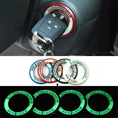 car ignition switch cover noctilucence glow 3d stickers. Black Bedroom Furniture Sets. Home Design Ideas