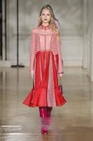 arlene sain Autumn and winter new silk female pink elegant annual dress female dress