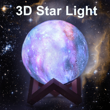 Rambery New product 16 colors star 3D moon lamp