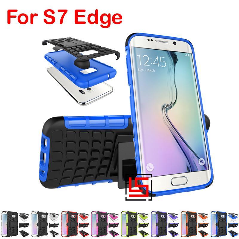 Armor Rugged Hybrid Hard PC TPU ShockProof Phone Case etui caso capinha Cover For Samsung Samsug Galaxy Galaksi Gelaksi S7 Edge