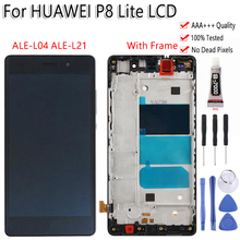 "5,0 ""para Huawei P8 Lite ALE L04 ALE L21 LCD pantalla táctil digitalizador montaje con marco herramientas libres para Huawei P8 Lite LCD"