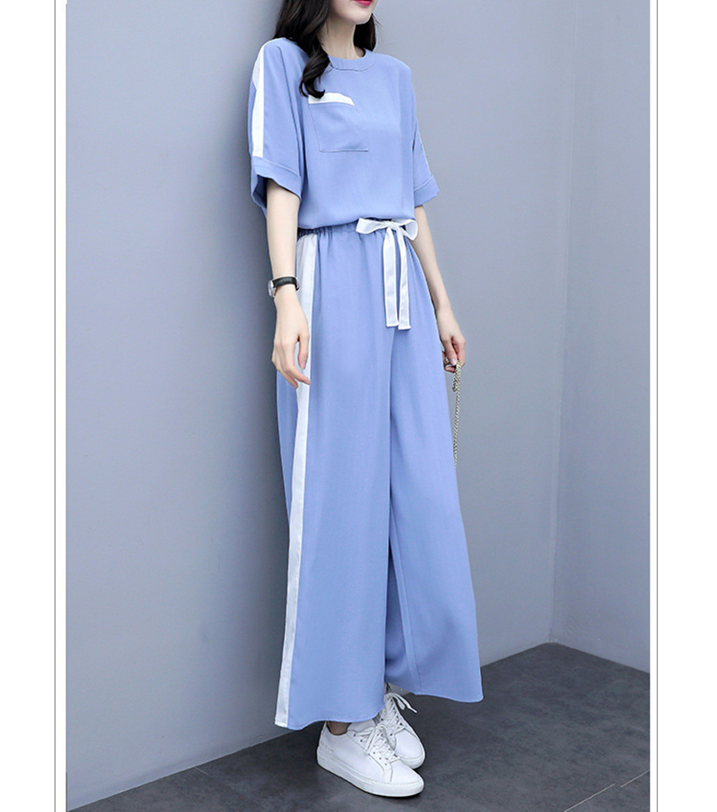 New style t-shirt + pants two-piece suit Summer new ladies Loose casual two-piece Fashionable women's clothing