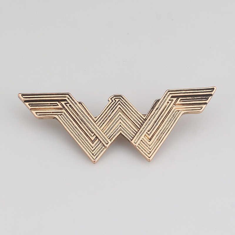 Film Wonder Woman Bros Emas Antik Wonder Woman W Huruf Awal Logo Bros dan Pin