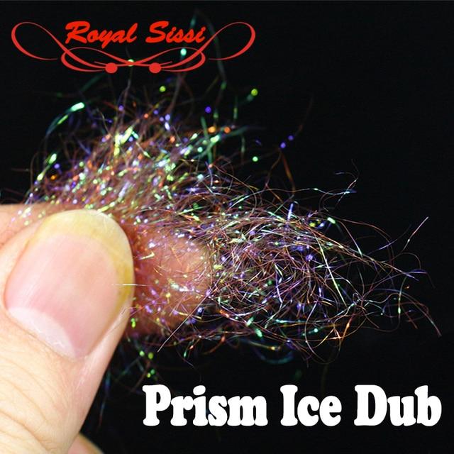 10 Màu Sắc tùy chọn Fly Ràng Buộc lăng kính ICE DUB sparkle pha lê Khách Sợi pearlescent ice lồng tiếng nymph cơ thể & ngực Ràng Buộc chất liệu