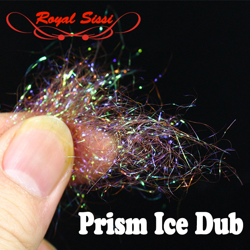 10 optional Colors Fly Tying prism ICE DUB sparkle crystal Living Fiber pearlescent ice dubbing nymph body&thorax Tying Material wapsi super fine water proof dry fly dubbing 2