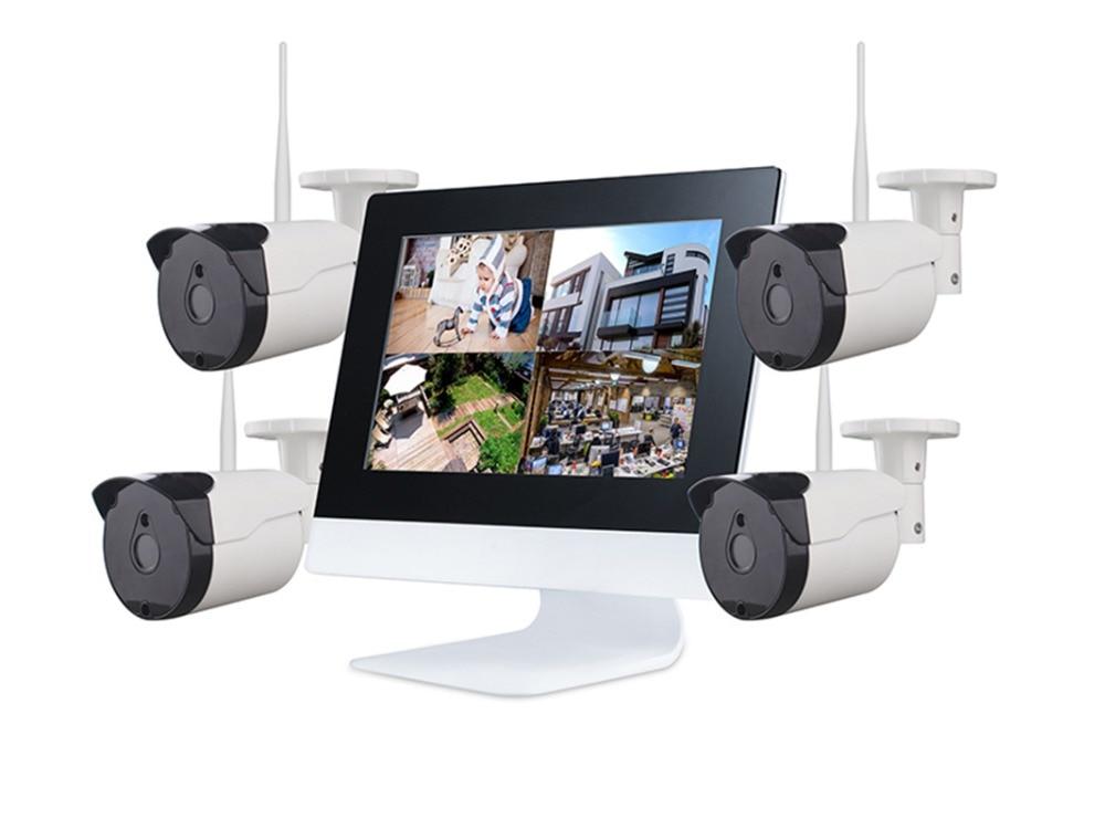ZB-WKM504 2.4G 4CH Kablosuz Gözetim KITI 4 WIFI IP 720 P IP - Güvenlik ve Koruma - Fotoğraf 1
