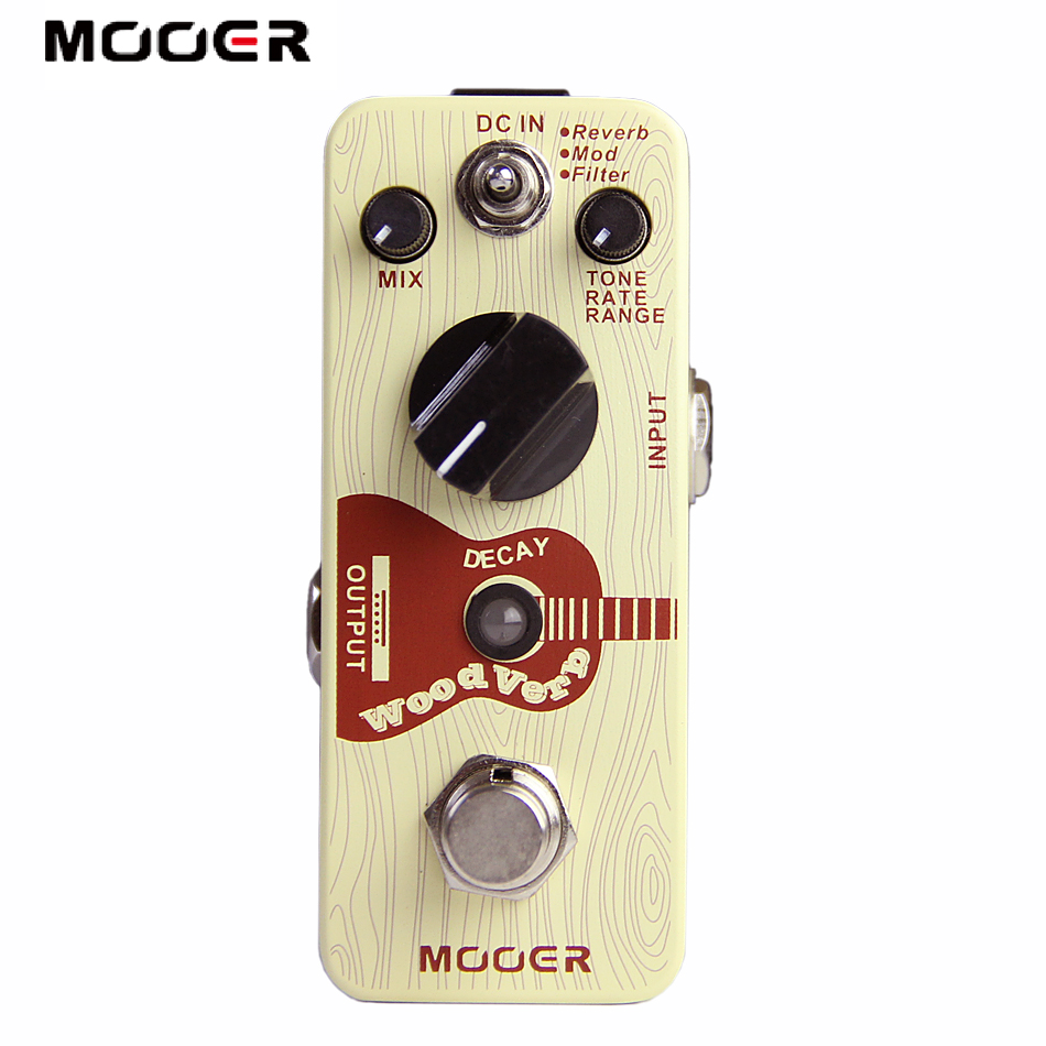 Mooer WoodVerb Acoustic Guitar Reverb Effects tiny size true bypass Guitar effect pedal mooer hustle drive overdrive guitar effects pedal true bypass guitar pedal guitar accessories