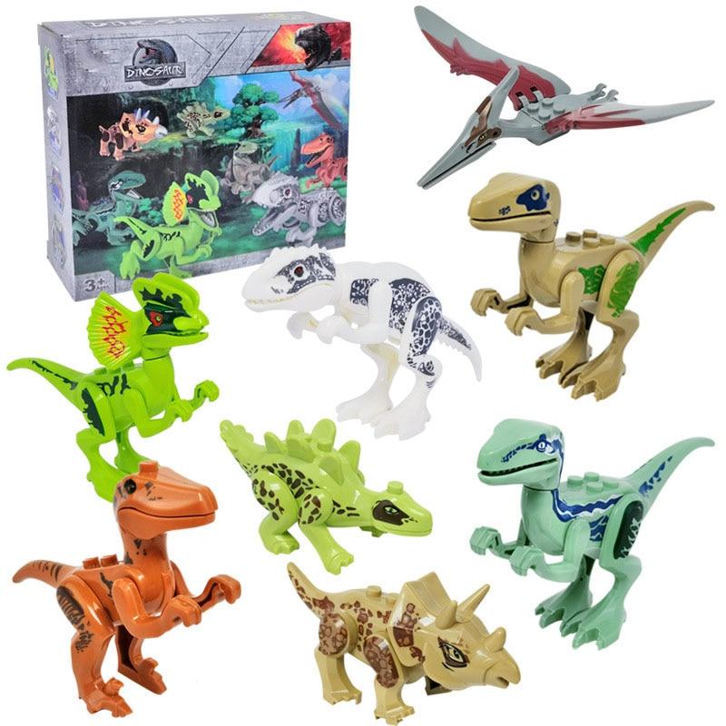 8 pièces 3D Puzzle bricolage modèle de dinosaure Kits Assemblé Casse-tête Jeux jouets éducatifs pour Enfants Puzzle Enfants Jouets Mobiles Cadeau
