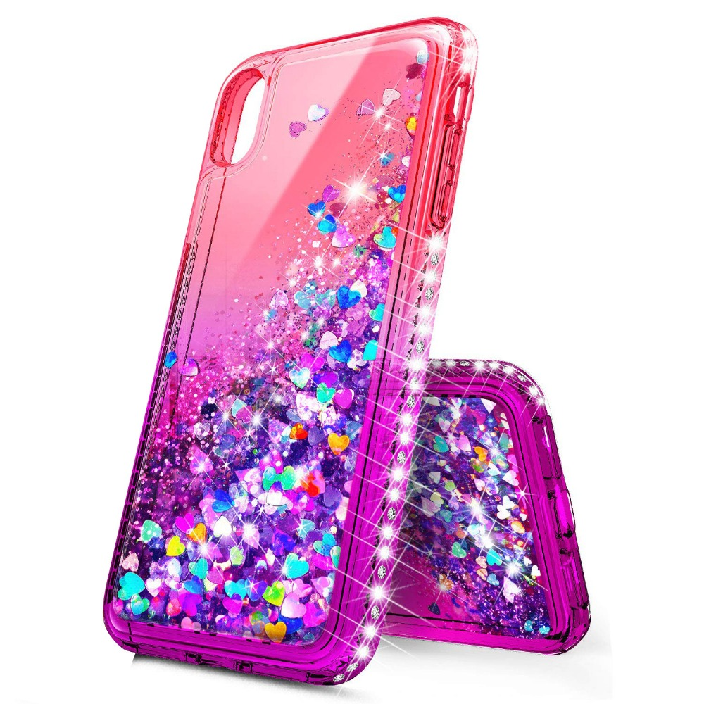 For Huawei P20 P20 Lite P20 Pro P30 P30 Pro P30 Lite Case Bling Sequin Glitter Diamond Hard Clear Back Cover Huawei in Fitted Cases from Cellphones Telecommunications