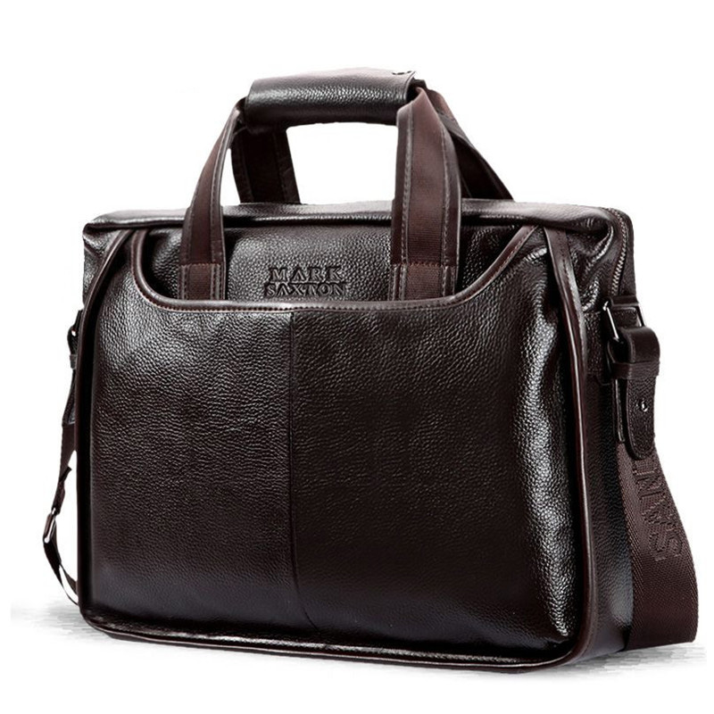 New Luxury 100% Natural Genuine Leather Briefcase Male Famous Brand Real Leather Soft Cowskin Casual Business Men Briefcases Bag