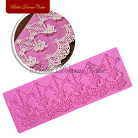Flower Chain Decoration Lace Mat Fondant Cake Decorating Lace Mold Silicone Decoration Mold Surafcraft Tools Bakeware