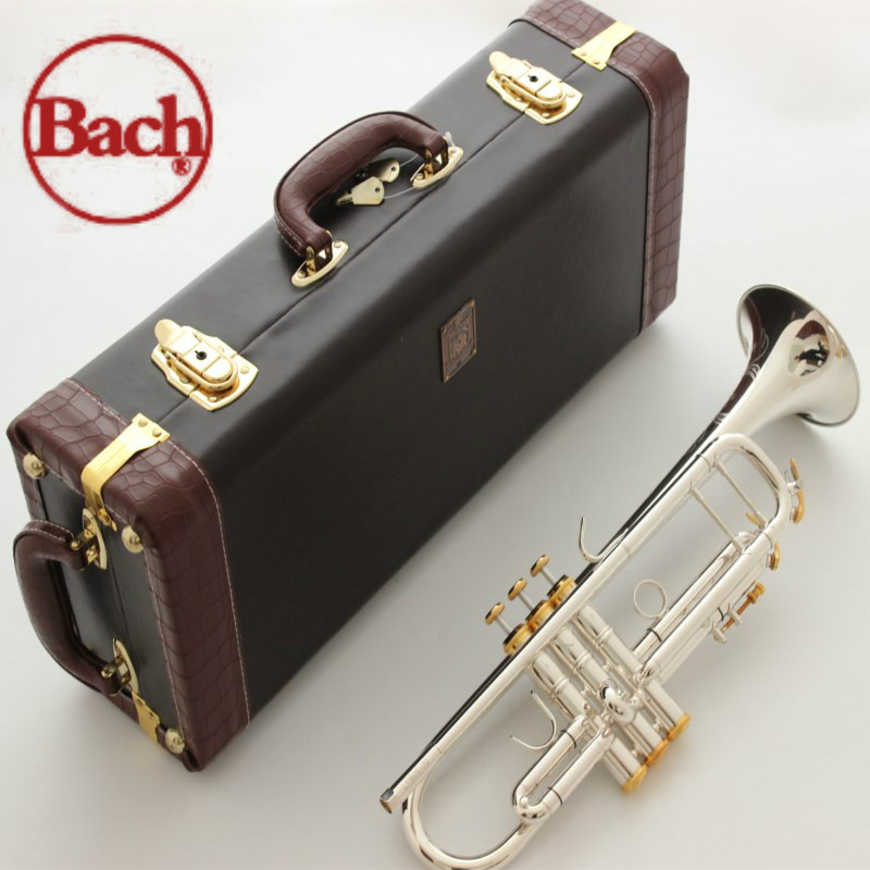 American Bach trumpet B flat LT197S-99 silver-plated trumpet Bach trumpet musical instrument one professional free shipping jazzor professional cornet jzht 300 b flat gold lacquer bb trumpet corneta with hard case brass musical instrument