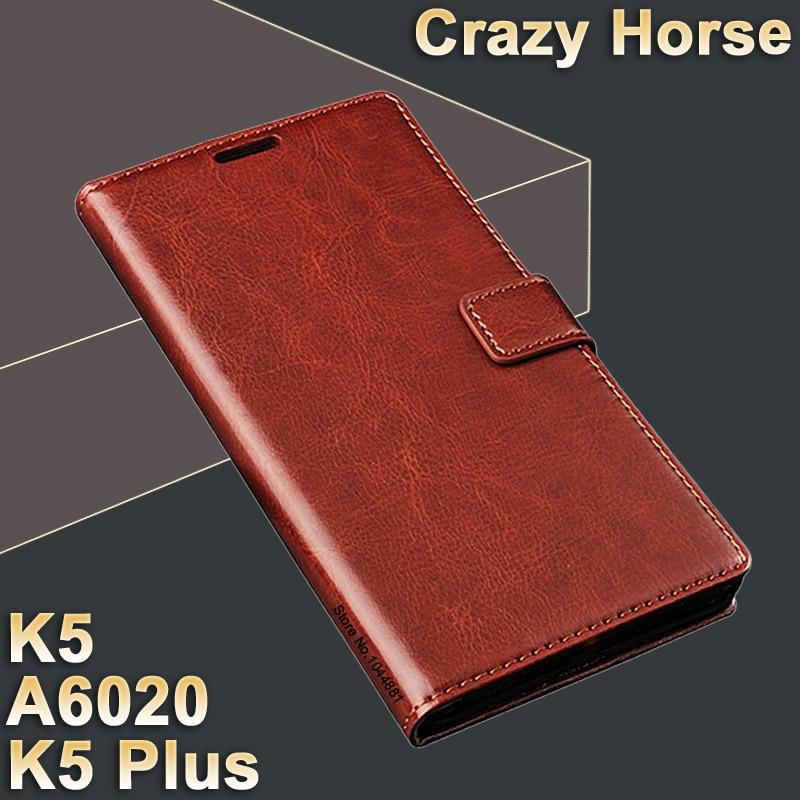 Lenovo vibe k 5 väska täcker läder Crazy häst flip fodral för - Reservdelar och tillbehör för mobiltelefoner - Foto 1
