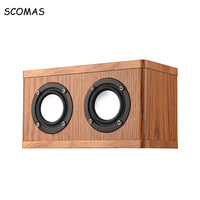 SCOMAS Dual Horn Bluetooth Bass Subwoofer Speakers Wireless Loudspeakers With FM Radio Music Player For Laptop