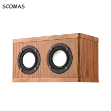 SCOMAS Dual Horn Bluetooth Bass Subwoofer Speakers Wireless Loudspeakers with FM Radio Music Player for Laptop PC Computer